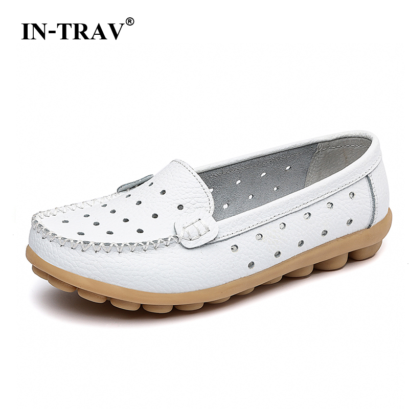 New 2017 Women flats genuine Leather Shoes Slip on women Flat shoes woman moccasins Spring summer