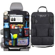 Универсальный органайзер для спинки сиденья автомобиля, сумка для хранения с несколькими карманами, держатель для планшета, аксессуары для интерьера автомобиля
