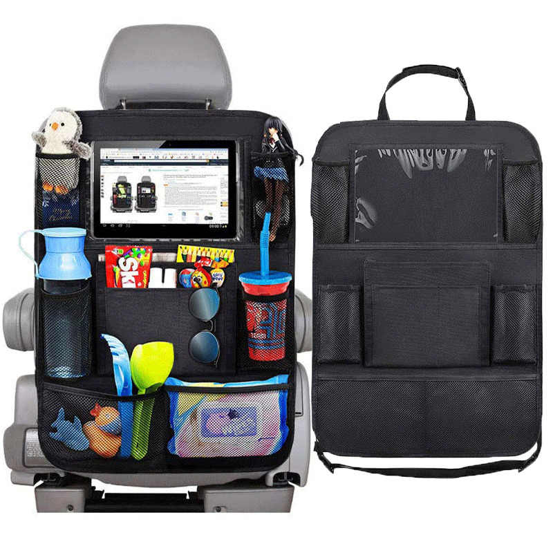 Universal Car Seat Back Organizer Multi-Pocket Storage Bag Tablet Holder Automobiles Interior Accessory Stowing Tidying