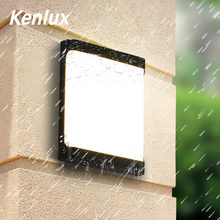 Kenlux 18W Plastic Waterproof Outdoor Led Wall Lighting Indoor Porch LED Wall Lamp Energy-saving WW/WH Garden Outdoor Light