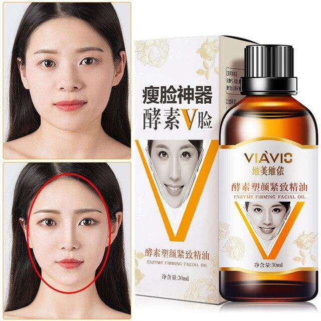Aceite de masaje facial con forma de V de doble barbilla para eliminar aceites esenciales cuidado del rostro