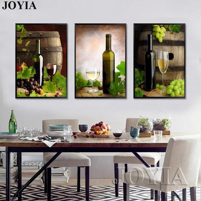 Estilo moderno pintura lienzo conjunto blanco barriles de vino ...