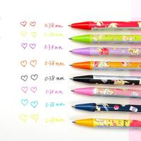 8pcs/set KAMIO japan Cartoon cute color gel pen Kawaii Modeling 0.38mm Press Gel Pen for student writing school supplies
