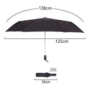Image 2 - Forte resistência ao vento 125cm grande guarda chuva automático masculino dupla camada 3 dobrável paraguas guarda chuva de golfe chuva feminino guarda chuva de viagem