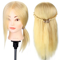 Neverland 16 100 Real Hair Blonde Hair Training Head Salon Practice Styling Design Hairstyles Doll Braiding