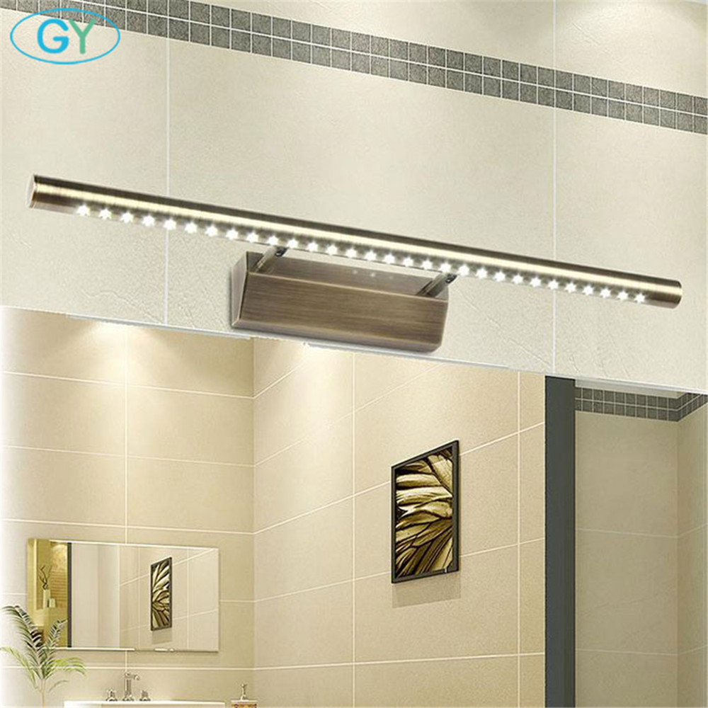 Novelty lighting Vintage Bronze Modern SMD 5050 LED front mirror light bathroom cabinet dressing table kitchen lamps luminaria vintage design led wall lamps bronze mirror light for bathroom kitchen lighting