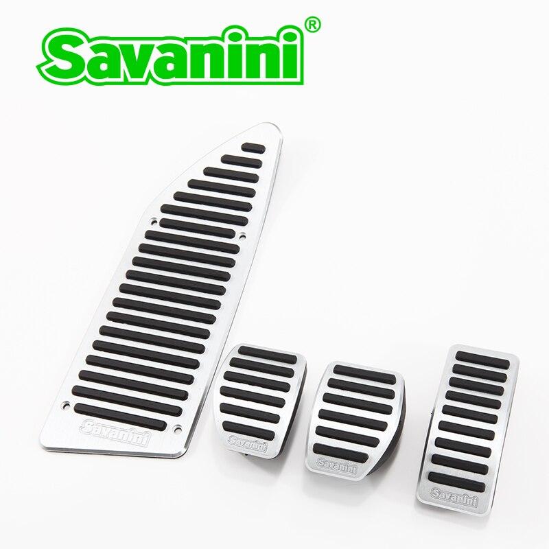 Savanini D'embrayage D'accélérateur de Gaz De Frein Repose-pieds Pédale Pad pour Peugeot 307/308/408 et Citroen C4L C3-XL À/MT Elysee Voiture style