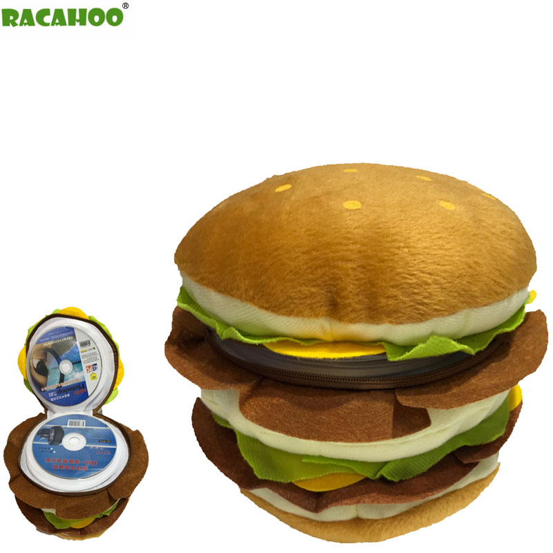RACAHOO Free Shipping CD Case Double Burger CD Pack Cartoon Plush Toys 40 Disc Capacity Can Be Stored CD VCD DVD CD-R CD-RW cd ��������������������������