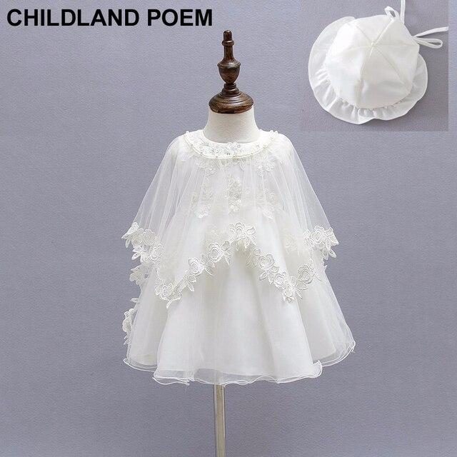 3pcs/set summer 1 year girl baby birthday dress handmade lace party wedding baptism baby girl dress newborn Christening dresses