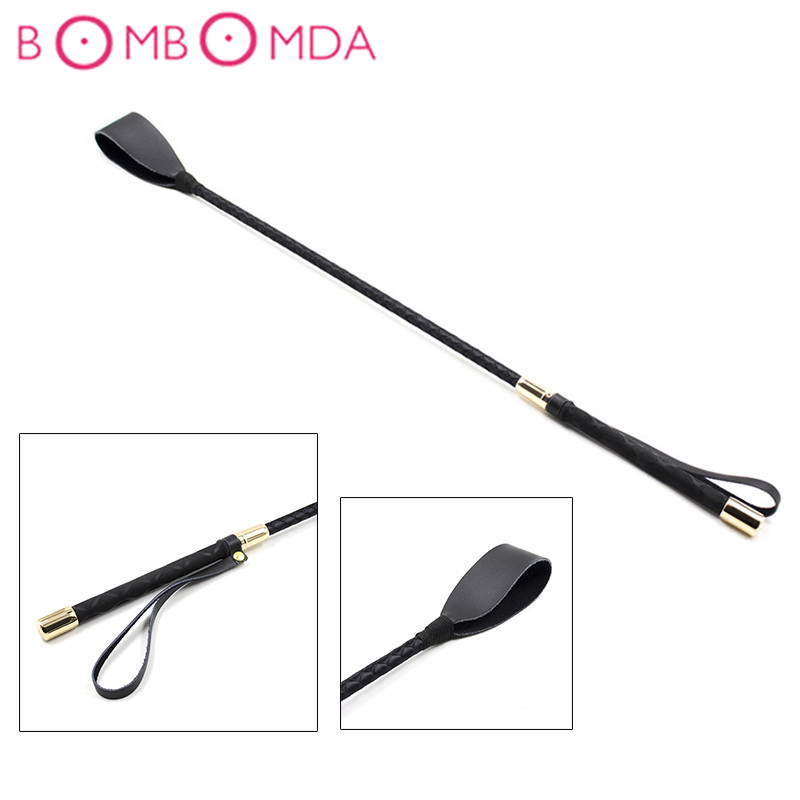 60cm BDSM Leather Fetish Flirt <font><b>Sex</b></font> Whip <font><b>Sex</b></font> <font><b>Toys</b></font> <font><b>For</b></font> <font><b>Couples</b></font> Sexy Products Spanking Paddle Bondage Flogger <font><b>Adult</b></font> <font><b>Games</b></font> Cosplay image
