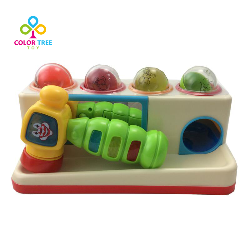 Hammer 1 PCS Hammer Music Kids Toys Early Education Ball Table With Light And Music Playing Set Gift For Children