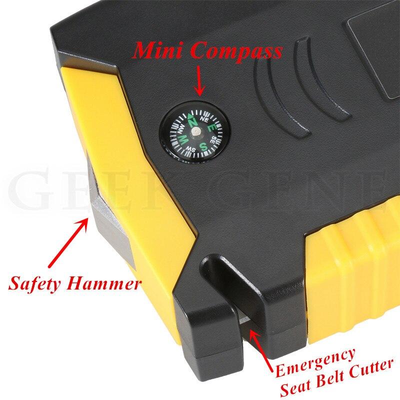 Super puissance voiture saut démarreur batterie externe 600A Portable voiture chargeur Booster 12V dispositif de démarrage essence Diesel voiture démarreur - 6