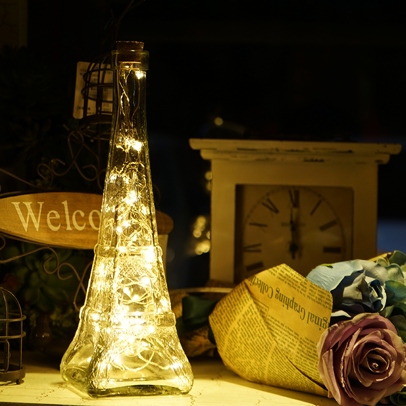 Led lamp glass tower lamp bedside bed personalized creative Christmas gifts girls romantic night light