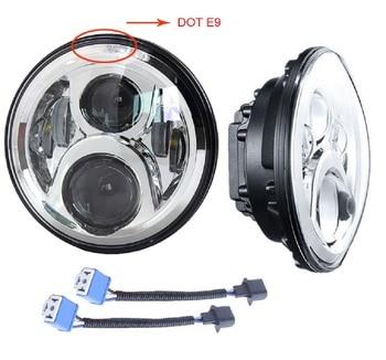 DOT 60W 7 pulgadas proyector de faro LED para Ultra clásico Electra Glide FLHTCU Street Glide Road King Touring modelo