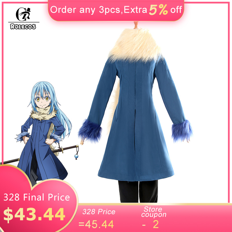 ROLECOS Rimuru Tempest Cosplay Costume Tensei shitara Slime Datta Ken Anime That Time I Got Reincarnated as a Slime Cosplay Set