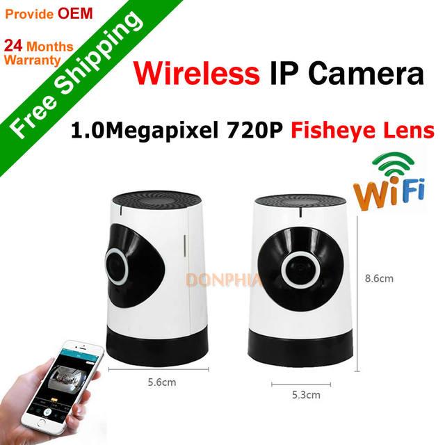 Monitor Do Bebê sistema de segurança em casa Câmera IP sem fio Plug & Play 720 P Wifi Mini CCTV Câmera de 180 graus vista remoto ir night visão