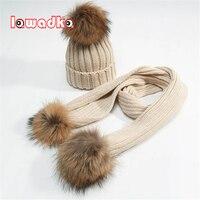Lawadka 2pcs Lot Knit Baby Hat Winter Children S Winter Hat Scarf Pom Kid Cap Beanie