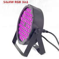 Led par luces x 54x3W DJ Par LED RGBW lavado luz Disco x 54x4W RGB 3in1 controlador de luz uv DMX efecto envío gratis