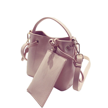 Fresh Style Bucket Bag Simple Gorgeous Composite Bag Ladies Shoulder Bag Utilitarian Concise Drawstring Women PU