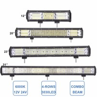 NEW 4ROWS OFFROAD LED WORK LIGHT BAR 12 20 23 31 INCH COMBO SUPER BRIGHT 12V