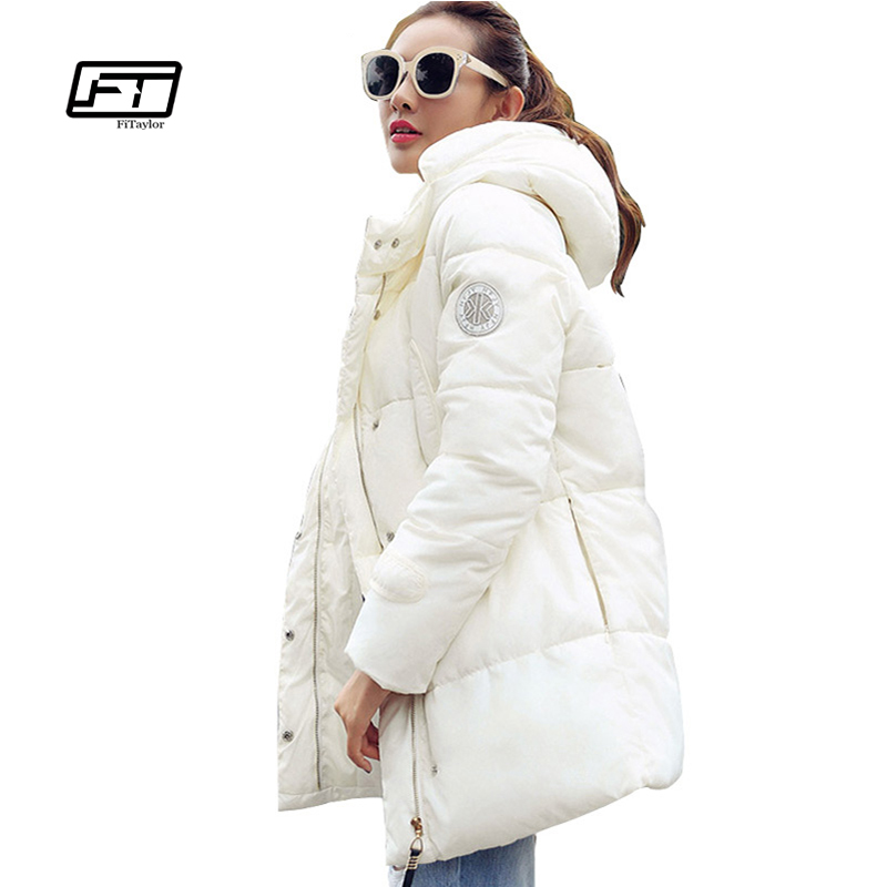 Fitaylor Winter New Parka Jacket Women Thick Coat Warm Hooded Cotton Padded Jacket Zipper Casual Female Overcoat Women Outwear shibever new cotton women winter coat ladies casual jacket women warm thick winter parka female outwear clothing for girl cjt142