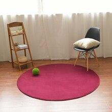 все цены на Home covered with modern coral velvet round carpet children's furry rug kitchen   living room hanging basket bedroom bedside mat онлайн