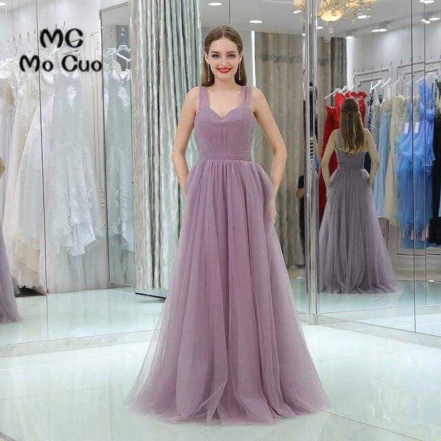 abe950ca59e0 Elegante 2017 Puffy Prom Dresses Lungo con Piega Senza Maniche lungo laurea abiti  Da Sera Prom