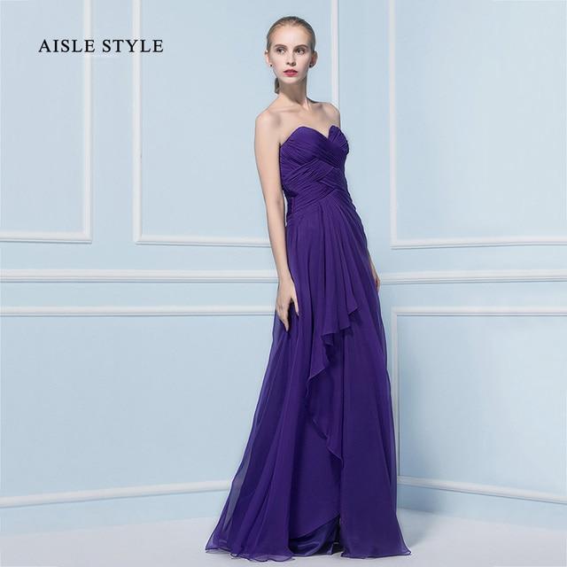 Aisle Style Women S Maternity Bridesmaid Dresses Empire Waist Sweetheart Cascading Ruffle Regency Purple Beach Dress