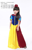 Snow White Cosplay Costume Halloweeen Christmas Dress High Quality Child Dress S L Dress Cape Headdress