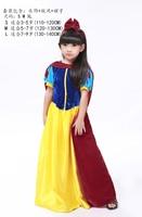 Snow White Cosplay Costume Halloweeen Christmas Dress High Quality Child Dress S L Dress Cape Headdress
