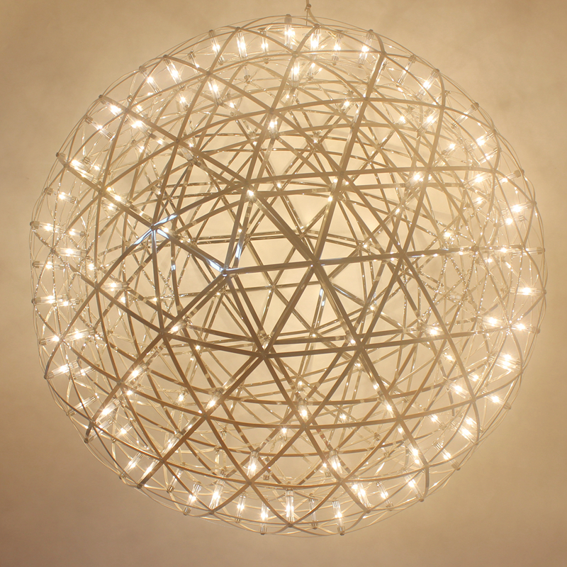 Modern Pendant Lamp LED Firework Lamp Stainless Steel Creative Circle Pendant Light Dia.30cm 40cm 50cm 60cm Ball free EXPRESS modern europe stainless steel creative circle pendant light led firework lamp ball lamp for restaurant living room cafe bar