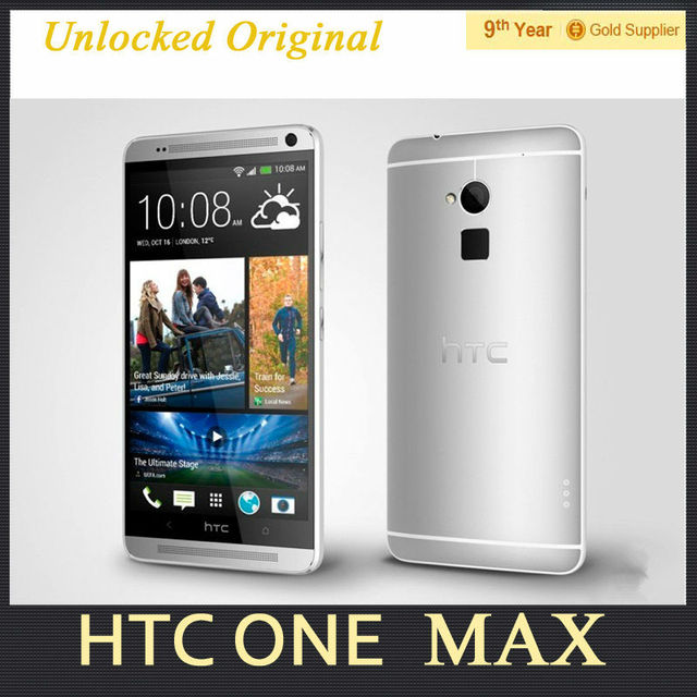 """5.9""""inch Screen HTC ONE MAX Original Cell Phones Quad core 2G RAM 16G ROM   Android 4.4 4G LTE Smart Phone Refurbished"""