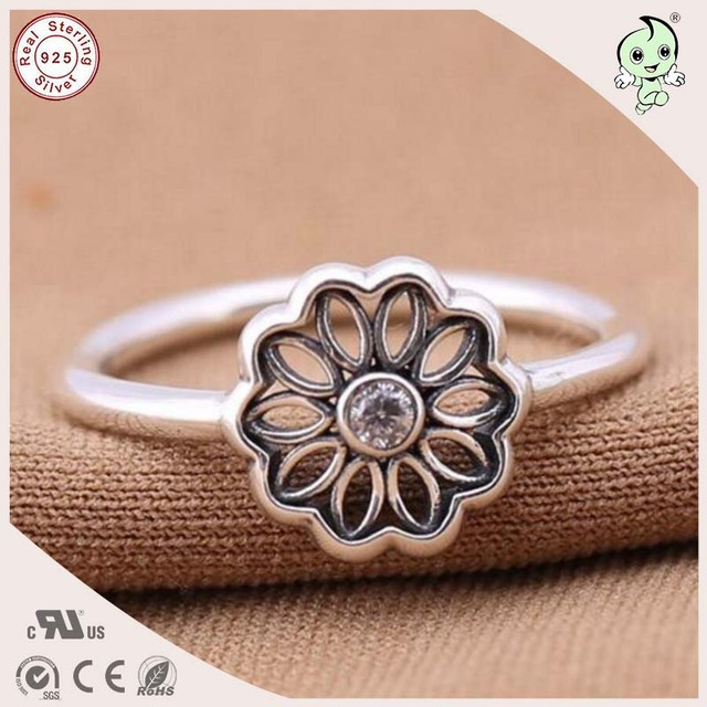 Top Quality Simple Design Real Silver Jewelry 925 Sterling Silver Hollow Sunflower Toe Ring