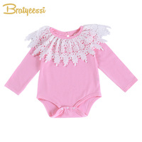New Princess   Baby     Rompers   for Girls Cotton Lace   Baby   Girl   Romper   Newborn Long Sleeve Party   Baby   Costume Toddler Jumpsuit
