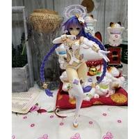 Japanese Anime Hyperdimension Neptunia Black Heart Purple Hair Blanc Guardian Goddess Action Figure Collectible Figurines Toys