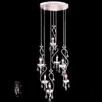 Европейский стиль люстра подвесные светильники долго Лебедь лестница люстра лампа висит лампа освещения произведения искусства Ресторан