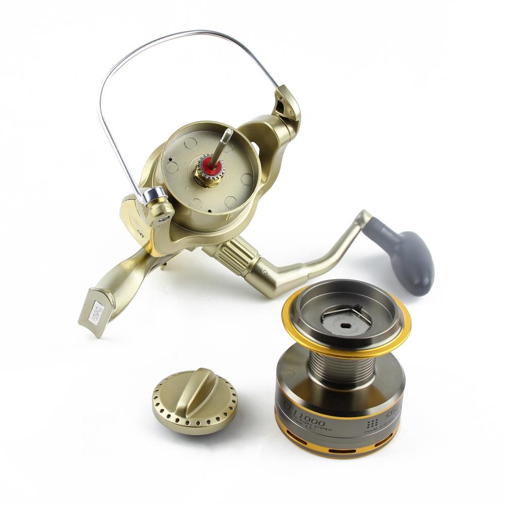 Cheap 8000 9000 10000 11000 Spinning Reel Fishing 11BB Max Drag 12KG Saltwater Sea Big Spinning Fishing Reel Moulinet Wheel  (14)