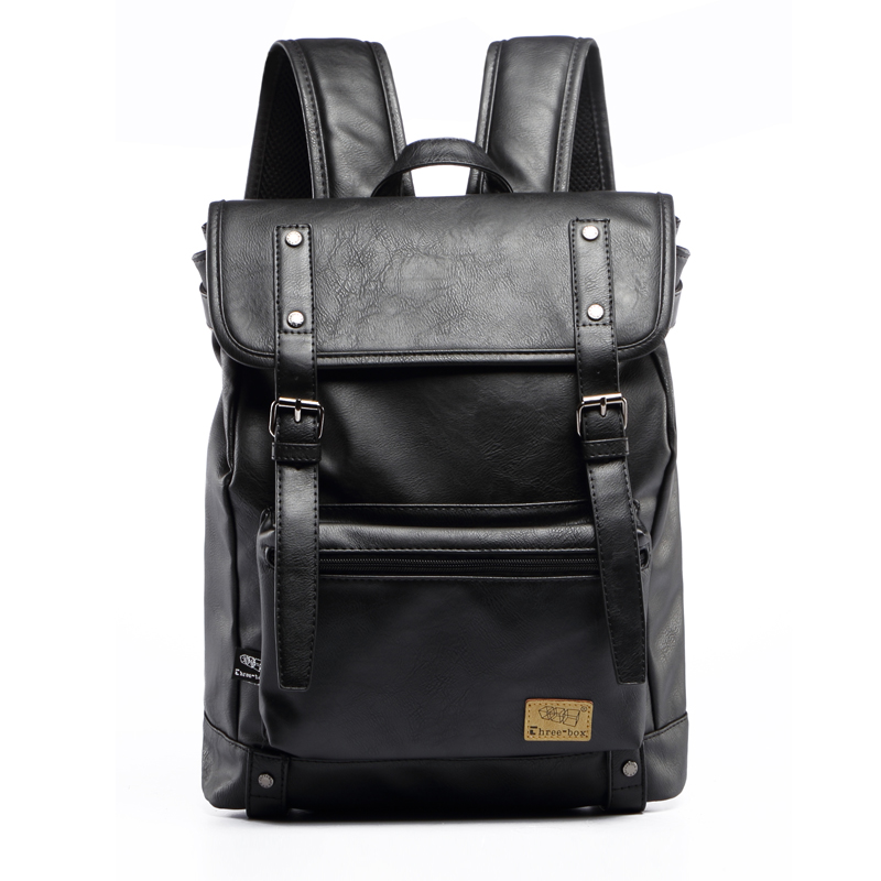 Three Box Men Fashion  Pu Leather Backpacks Vintage School Bag for Teenager Casual Business Laptop Backpack Travel Bag for Women karen a horcher essentials of managing treasury