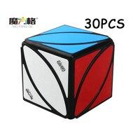 30 шт. QiYi черный магический куб скорость Твист Головоломка странная форма Cubo magico красочная наклейка Neo Cube Развивающие игрушки для детей