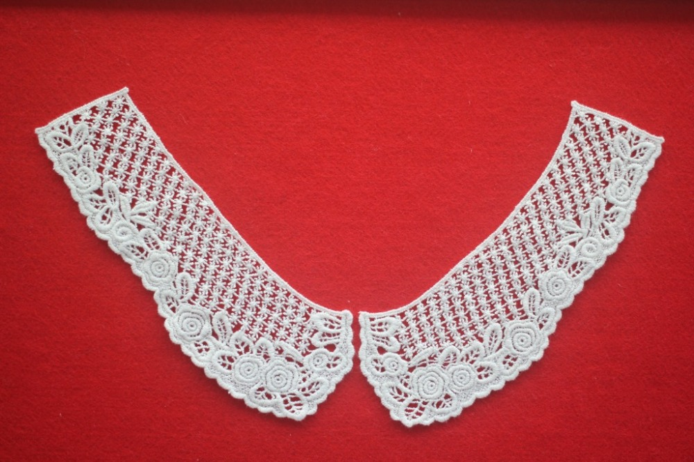 China white african flower embroidery lace applique for