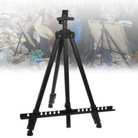Adjustable Telescopic Drawing Metal Tripod Display Stand Art Easel for Studio Painting Display