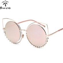 Diamon DRESSUUP Nuevo Lujo gafas de Sol de Diseñador de la Marca Mujeres Del Ojo de Gato Gafas de Sol de La Vendimia Gafas Oculos Lentes De Sol Mujer
