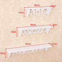 One Set Three Pieces White Wood Display Wall Shelf Storage Ledge Home Dector Simple Cleaning And