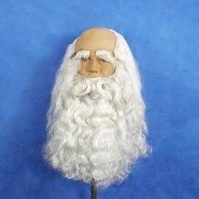 Hat Headwear Hair-Ornaments Moustache White Long Beard 40cm Suit-Set Christmas Santa-Claus