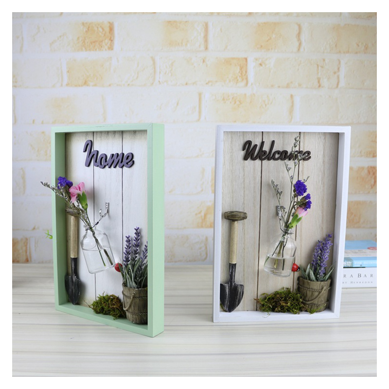 Modern Wooden multi-purpose Green Plant Hydroponic Ornaments Desk Plant Hydroponic Vase Miniature Home Decor Accessories Gifts