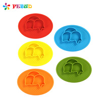 Cute Baby Dish Safe Food Grade Tableware Silicone One Piece Plate For Babies Toddlers And Kids