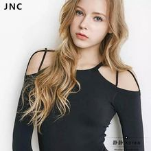 JNC New Cut-out Strappy Wrap Yoga Ballet Top Shirts For Women Long sleeves Sports Top with Padded Bra Active Wear S/M/L