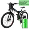 ANCHEER New Mountain Bike26inch 36V Foldable Electric Power Mountain Bicycle With Lithium Ion Battery Ebike USB