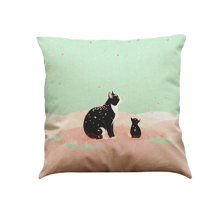 Cute Cat Sofa Bed Home Decoration Festival Pillow Case Cushion Cover sofa coffee shop library party club Drop Shipping