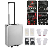 699pcs/set Organize Manual Trolley Case Home Auto Repair Car Care Maintenance Hardware Mobile Tool Box Set Workshop Equipment